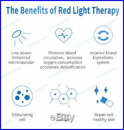 1000W 660nm Red Light Therapy 850nm Infrared Light LED Lamp Full Body with Timer