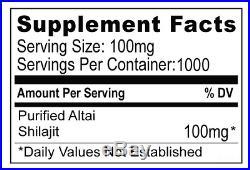 100g Authentic Altai Shilajit Pure Organic Resin Mumijo Mumiyo Mumie Shilajeet