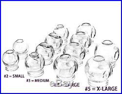 12 pcs Thick Glass Cupping Set for Professionals 4 different sizes US Seller