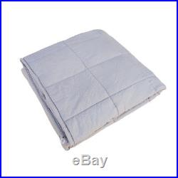 15LB Weighted Blanket for Adults, Fall Asleep Faster and Sleep Better-Light gray