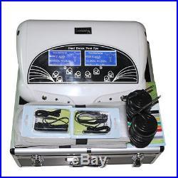 2018 New Dual Ion Detox Ionic Aqua Foot Bath Chi Spa Machine