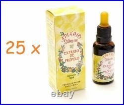 25 x 30ml Organic Brazilian Bee Green Bee Propolis Extract APIARIO SILVESTRE