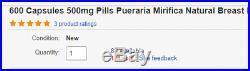 280 Kapseln 500mg Pillen Pueraria Mirifica Natürliche Brust Büste Vergrößerung