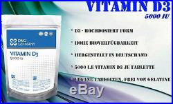 2 x 500 Tabletten Vitamin D3 á 5000 IU BULK Sonnenschein Vitamin no kapseln