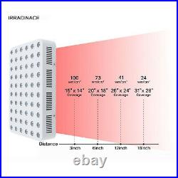 300W Therapy Light Panel LED Red Infrared Light Anti-Aging Face Beauty Lamp