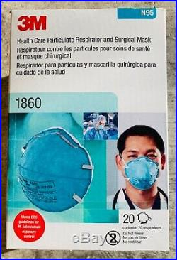 3M Health Care Respirator 1860 (20, Regular, Exp 2024)