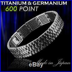 600 Energy Germanium Power Bracelet Health Armband Pure Titanium TA2 Bio