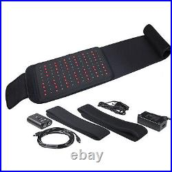 660nm&880nm Infrared Red Light Therapy for Pain Relief Back Waist Wrap Pad Belt