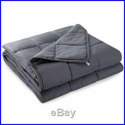 76x80 King Size Weighted Blanket Reduce Anxiety Stress Better Deep Sleep 15lbs