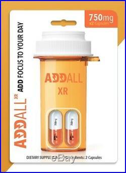 Addall Xr 750mg 2 Capsules X 12 = 1 Box (24 Capsules)