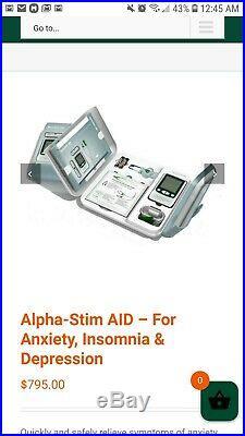Alpha-Stim Aid treats anxiety, depression, PTSD and Insomnia