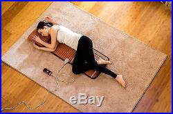 Amethyst Tourmaline Heated Healing Mat Seat Reliever Far Negative Ions with PEMF