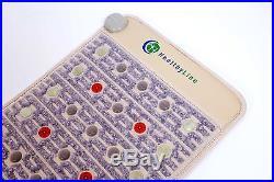 Amethyst Tourmaline Jade Heated Pad 32x20 Mat with PEMF FIR Photon Light Ions
