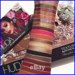 Authentic HUDA BEAUTY Rose Gold REMASTERED Eyeshadow Palette -Worldwide Shipping