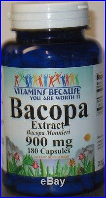 Bacopa Extract 900 mg 180 capsules bacopa monnieri