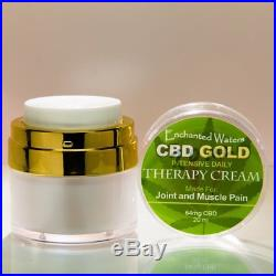 CBD GOLD Oil Cream Lotion with Essential Oils Daily Muscle Joint Pain Relief USA