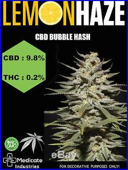 Cbd Bubble Hash 9.8% Cbd / 0.2% Thc (food Supplement) Lemon Haze