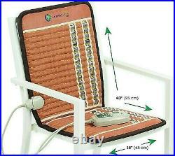 Chair Heating Pad w PEMF Far Infrared Bio Amethyst TAO Mat HealthyLine 40x18