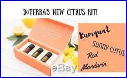 DoTERRA Summer Citrus Trio Gift Set Therapeutic Grade Essential Oil Aromatherapy