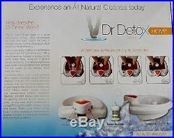 Dr Detox ION DETOX FOOT BATH SPA CLEANSE DETOX Bonus Extras 1 YEAR WARRANTY