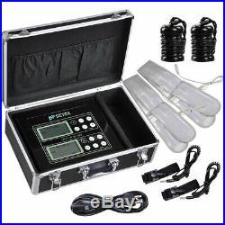 Dual User Foot Bath Spa Machine LCD Ionic Detox Health Care Cell Cleanse Machine