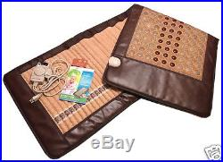 Dual side Amethyst Jade & Tourmaline Negative Ions InfraRed Heating Energy Pad L