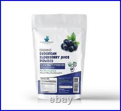 ELDERBERRY ORGANIC European Fruit Juice Powder 51 Strength Extract 6 oz, 170gm