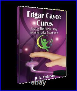 Edgar Cayce Cures Violet Ray 30 w High Frequency Wand w 4pc electrodes, Handbook