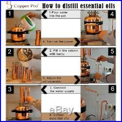 Essential oil Distillation Kit 5 l Premium Set Steam Distiller