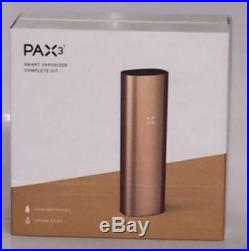 Gold PAX 3 Complete Kit 100% Authentic Bluetooth 10-Years Warranty Serial # 1pc