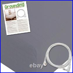 Grounding Brand King Size Earthing Sheet with Connection Cable, Grey