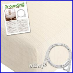Grounding Brand Queen Size Earthing Sheet with Connection Cable, Tan