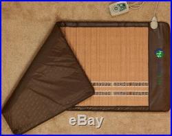 HealthyLine Amethyst Jade Tourmaline Heated Mat FIR Energy Soft Pad 60''x24'