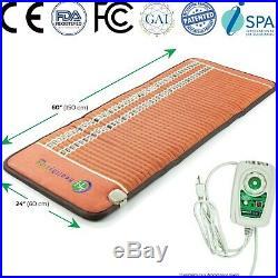 HealthyLine Amethyst Tourmaline Gemstone Heat Pad Mat Infrared PEMF 60 x 24