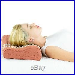 HealthyLine Amethyst Tourmaline Gemstone Memory Foam Neck and Shoulder Support