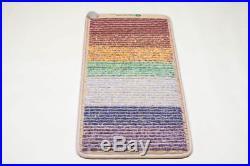 Healthyline Rainbow Chakras Mat Heated Pad 50''x24'' with PEMF Negative Ions FIR