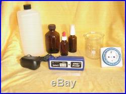 IONIC PULSER SILBERGENERATOR Set mit 1L Aqua dest, Glas, Timer, 3 Flaschen
