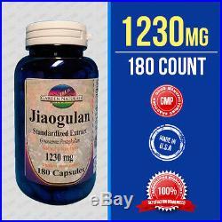 Jiaogulan Standardized Extract 1230mg 180Cap Gynostemma Pentaphyllum/Rhizome USA