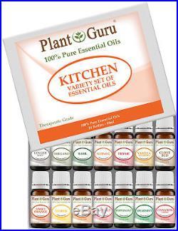 Kitchen Essential Oil Set Sampler Kit 14 -10 ml 100% Pure Therapeutic Grade Lot