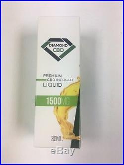 Large 30ML Premium Diamond CBD Oil Full Spectrum All Natural 1500MG Cannabinoid