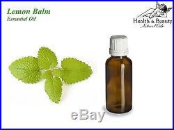 Lemon Balm (Melissa) Essential Oil. 9 Sizes. 10ml Gallon. Free Shipping