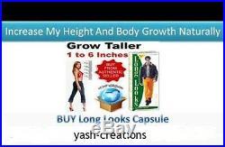Long Looks Herbal Increase Height Gain Taller Herbal Growth 240 Capsules(Unisex)