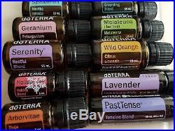 Lot of 12 Doterra Essential Oils