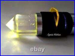 Master Healing 3 Crystals quartz light wand torch chromotherapy Chakras 8 color