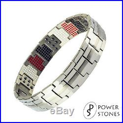 Mens Super Strong Magnetic Therapy Bracelet Bio 4in1 Arthritis Pain Relief 001s