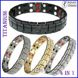 Mens Titanium Super Strong Magnetic Therapy Bracelet Bio 4 In 1 Arthritis 003