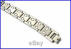 Mens Titanium Super Strong Magnetic Therapy Bracelet Bio Healing Arthritis 009