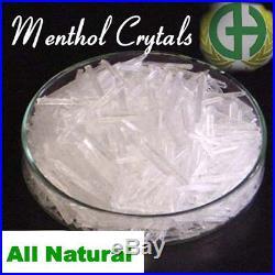 Menthol Crystals 100% PURE, USP Grade Free Shipping