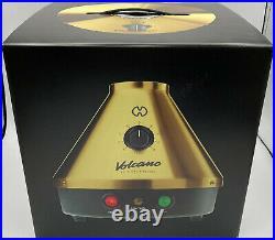 NIB Storz & Bickel 20th Anniversary Volcano Classic in 24K Gold w Easy Valve Set