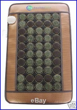 Natural Jade Tourmaline Stones Negative Ions InfraRed Heating Energy Medium Pad